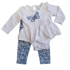 KOALA BABY Blue & White Butterfly Outfit Set 9-12m